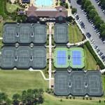 Carmel Country Club Charlotte Clay Har Tru Hard Tennis Courts New Construction- Overhead