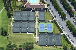 Carmel Country Club Charlotte Clay Har Tru Hard Tennis Courts New Construction- Overhead
