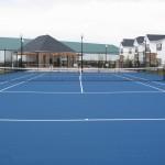 Greenville NC Tennis Court New Construction- Blue
