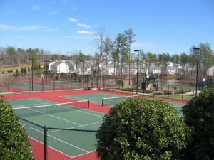 Morrisville Tennis Court New Construction