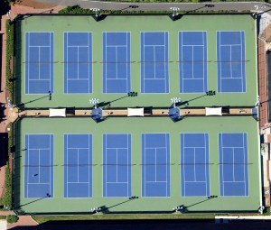 NCSU Tennis Courts Overhead