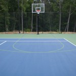 Residential Tennis Basketball Court New Construction- Apex 1